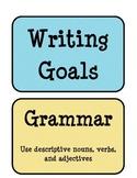 3rd grade Writing Goals sign