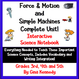 3rd, 4th, 5th Grade FORCE & MOTION/ SIMPLE MACHINES Intera
