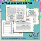 4 Year Old Skill Progress Report