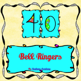 40 Bell Ringer Assessment Activity Questions Task Cards by