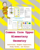 4th & 5th grade common core geometry unit set (posters, ac
