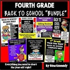 """4th Grade """"Back To School"""" Literacy Bundle! ALL You Need t"""