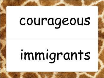 4th Grade Harcourt Basal Vocabulary for Posting--Safari