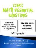 4th Grade CCGPS Math Essential Questions