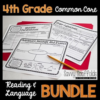 4th Grade CCSS ELA Lessons with Organizers to Use with ANY text (Common Core)