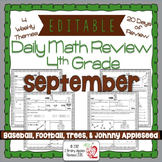 EDITABLE 4th Grade Daily Math Review/Morning Work- September