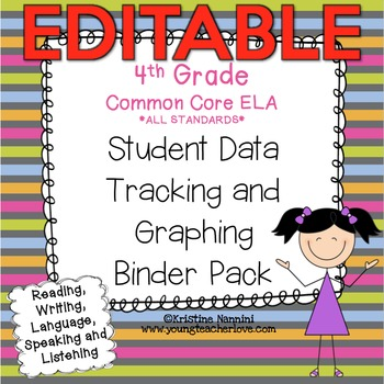 4th Grade Common Core: ELA {Student Data Tracking Binder Pack} *ALL STANDARDS*
