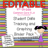 4th Grade Common Core: ELA {Student Data Tracking Binder P
