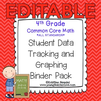 4th Grade Common Core: Math {Student Data Tracking Binder Pack} *ALL STANDARDS*