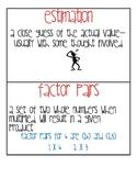 4th Grade Common Core Math Vocab