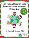 Non-Fiction Read and Write:  December {Winter Holidays}