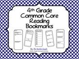 4th Grade Common Core Reading Bookmarks