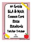 4th Grade Common Core State Standards Teacher Tracker ELA & Math