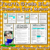 4th Grade ELA Common Core Menus and Checklists