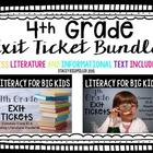 4th Grade ELA Common Core Reading Exit Tickets {Literature
