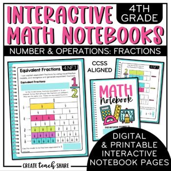 4th Grade Interactive Math Notebook - Fractions
