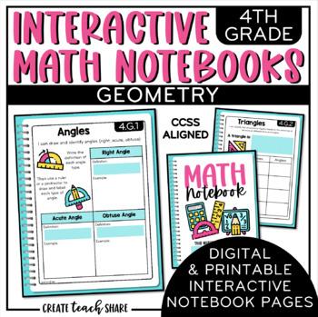 4th Grade Interactive Math Notebook - Geometry