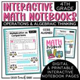 4th Grade Interactive Math Notebook - Operations & Algebra