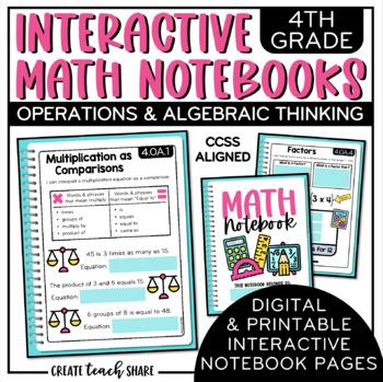 4th Grade Interactive Math Notebook - Operations & Algebraic Thinking