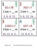 4th Grade Math Calendar - Length, Patterns, Fractions, Mul