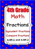 4th Grade Math - Equivalent Fractions - Compare Fractions