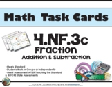 4th Grade Math Task Cards 4.NF.3 Common Core Aligned