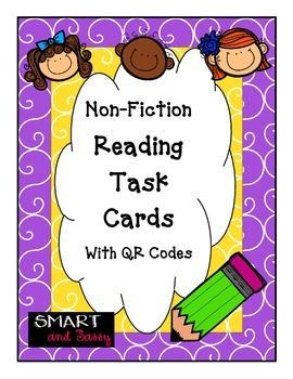 4th Grade Reading STAAR Review Non-Fiction Task Cards with QR Codes
