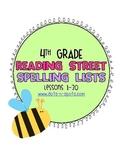 4th Grade Reading Street Spelling Lists