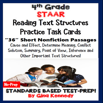 4th Grade STAAR READING NONFICTION INFORMATIONAL TEXT FEATURES TASK CARDS!