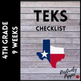 4th Grade TEKS Checklist (9 Weeks Checks)