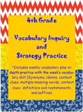 4th Grade Wonders: Unit 1 Vocabulary Inquiry and Vocabular