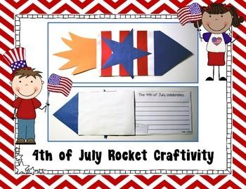 4th of July Rocket Craftivity