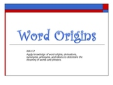 5 Day Lesson on Word Origins