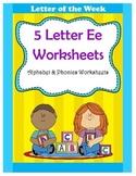 5 Letter E Worksheets / Alphabet & Phonics Worksheets / Le
