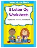 5 Letter G Worksheets / Alphabet & Phonics Worksheets