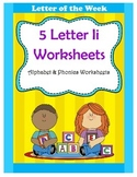 5 Letter I Worksheets / Alphabet & Phonics Worksheets