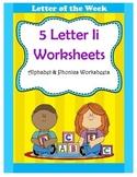 5 Letter I Worksheets / Alphabet & Phonics Worksheets / Le