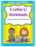 5 Letter L Worksheets / Alphabet & Phonics Worksheets