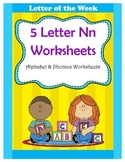 5 Letter N Worksheets / Alphabet & Phonics Worksheets / Le