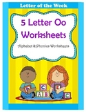 5 Letter O Worksheets / Alphabet & Phonics Worksheets / Le