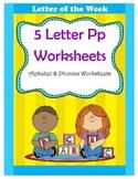5 Letter P Worksheets / Alphabet & Phonics Worksheets / Le