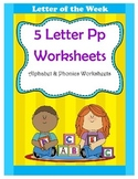 5 Letter P Worksheets / Alphabet & Phonics Worksheets / Le