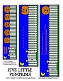 5 Little Pumpkins Flip Book