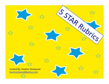 5 STAR Writing Rubric