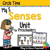 5 Senses Preschool Centers and Circle Time