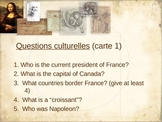 """5 questions"": cultural questions on the French-speaking world"
