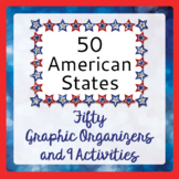 American States - 50 Graphic Organizers 9 Activities (& Ch