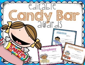 End of Year CANDY AWARDS - editable