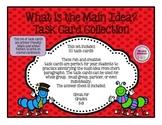 50 Finding Main Idea Task Cards/Flash Cards, Partner, Smal