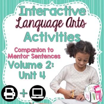 Volume 2 Language Arts Notebook Companion for FOURTH Mentor Sentence Unit